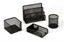 Immagine di Set scrivania in alluminio 4 pezzi colore nero