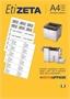 Immagine di Etichetta adesiva A4 Etizeta formato 64,6x33,8 conf. 100 fogli