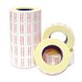 Immagine di Etichetta permanente retta bianca bordata rosso 22x12 conf. 50 pz.