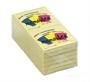 Immagine di Biglietto adesivo 75x75 giallo 100 fogli conf. 12 pezzi