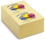 Immagine di Biglietto adesivo 102x75 giallo 100 fogli conf. 12 pezzi