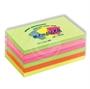 Immagine di Biglietto adesivo 127x75 neon 100 fogli conf. 6 pezzi