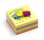Immagine di Biglietto adesivo 75x75 cubo 400 fogli colori assortiti neon