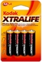 Immagine di Batterie Kodak stilo AA blister 4 pz. conf. 10 pz