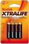 Immagine di Batterie Kodak mini stilo AAA blister 4 pz. Conf. 10 Pz