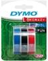 Immagine di Nastro 3D in plastica colori assortiti per Dymo Omega blister 3 pz.