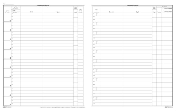 75b8c92064 Zetaufficio shop. Registro protocollo corrispondenza arrivo/partenza  31x24,5 50 pagine