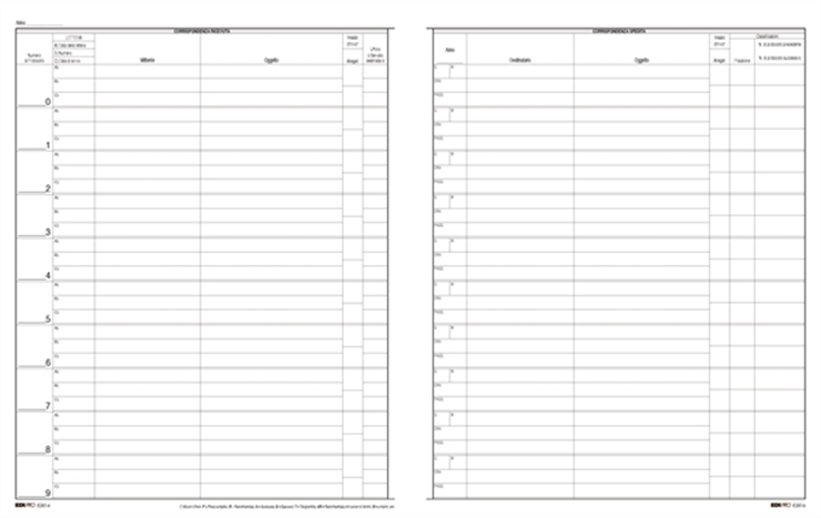 cbd044b78f Zetaufficio shop. Registro protocollo corrispondenza arrivo/partenza  31x24,5 200 pagine cop. rigida