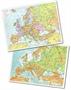 Immagine di Cartina fisica/politica Europa 28x37 cm conf. 25 pz.