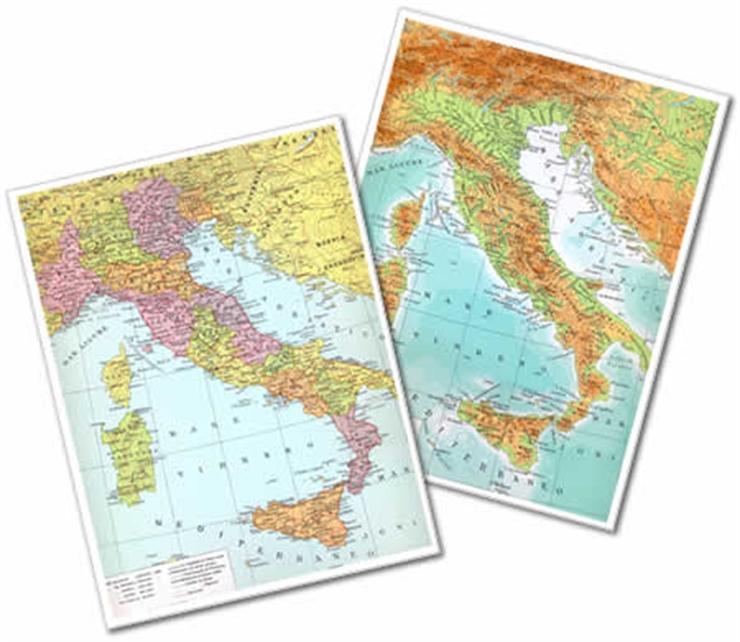 Cartina Fisica E Politica.Zetaufficio Shop Cartina Fisica Politica Italia 28x37 Cm Conf 25 Pz