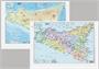 Immagine di Cartina fisica/politica Sicilia 28x37 cm conf. 25 pz.