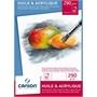 Immagine di Blocco Huile & Acrylique 290 gr 10 fogli formato A3 conf. 5 pz.