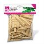Immagine di Mezze mollette in legno 72 mm conf. 100 pz.