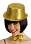Immagine di Cilindro in plastica con glitter oro