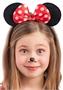 Immagine di Cerchietto topolina con fiocco a pois