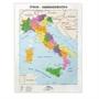 Immagine di Carta Geografica Da Banco 42X29,7 CM Italia Politica Fisica