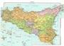 Immagine di Carta Geografica 100X140 CM Sicilia